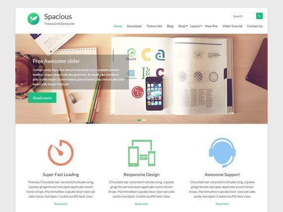 The Spacious demo page.