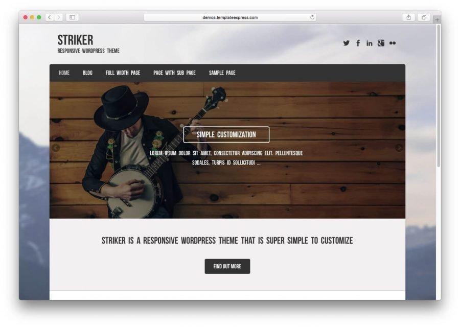 The Striker demo page.