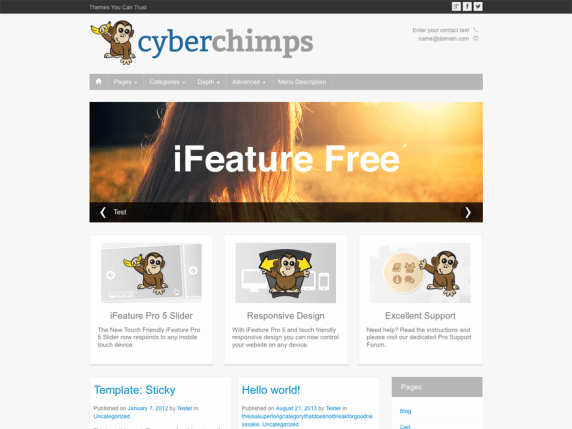The iFeature demo page.