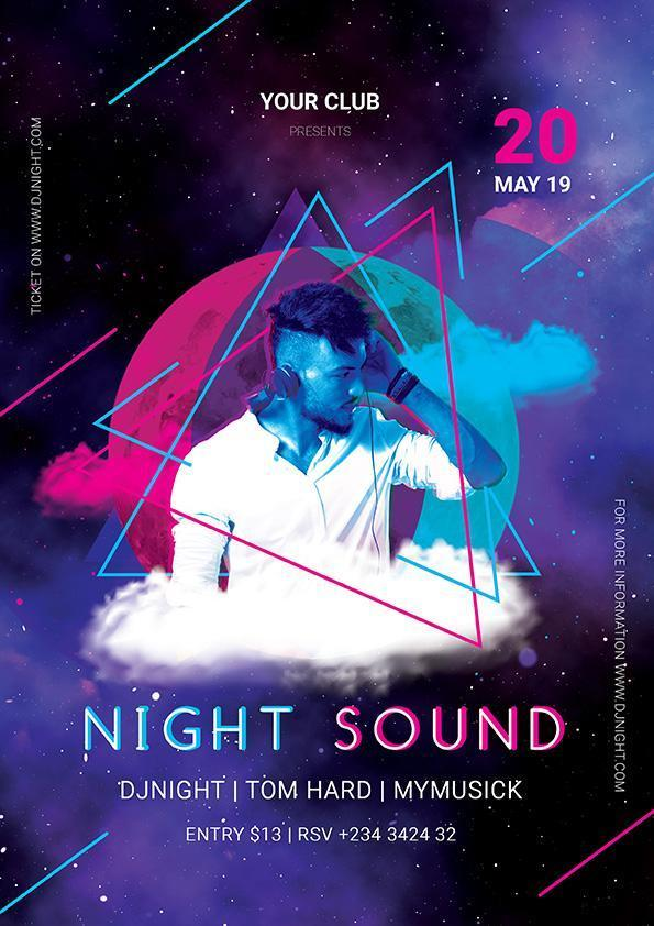 DJ Night Party Event Flyer