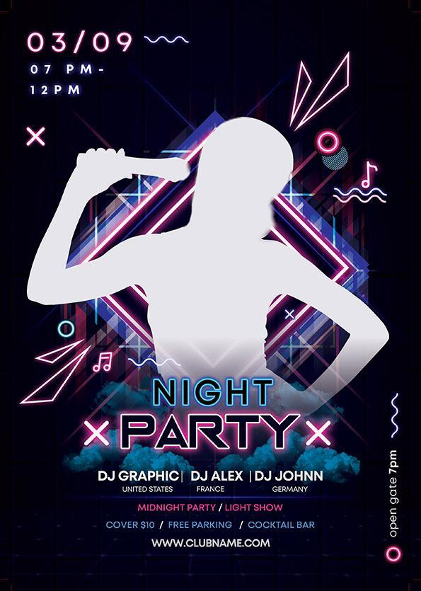 Music Night Party Poster