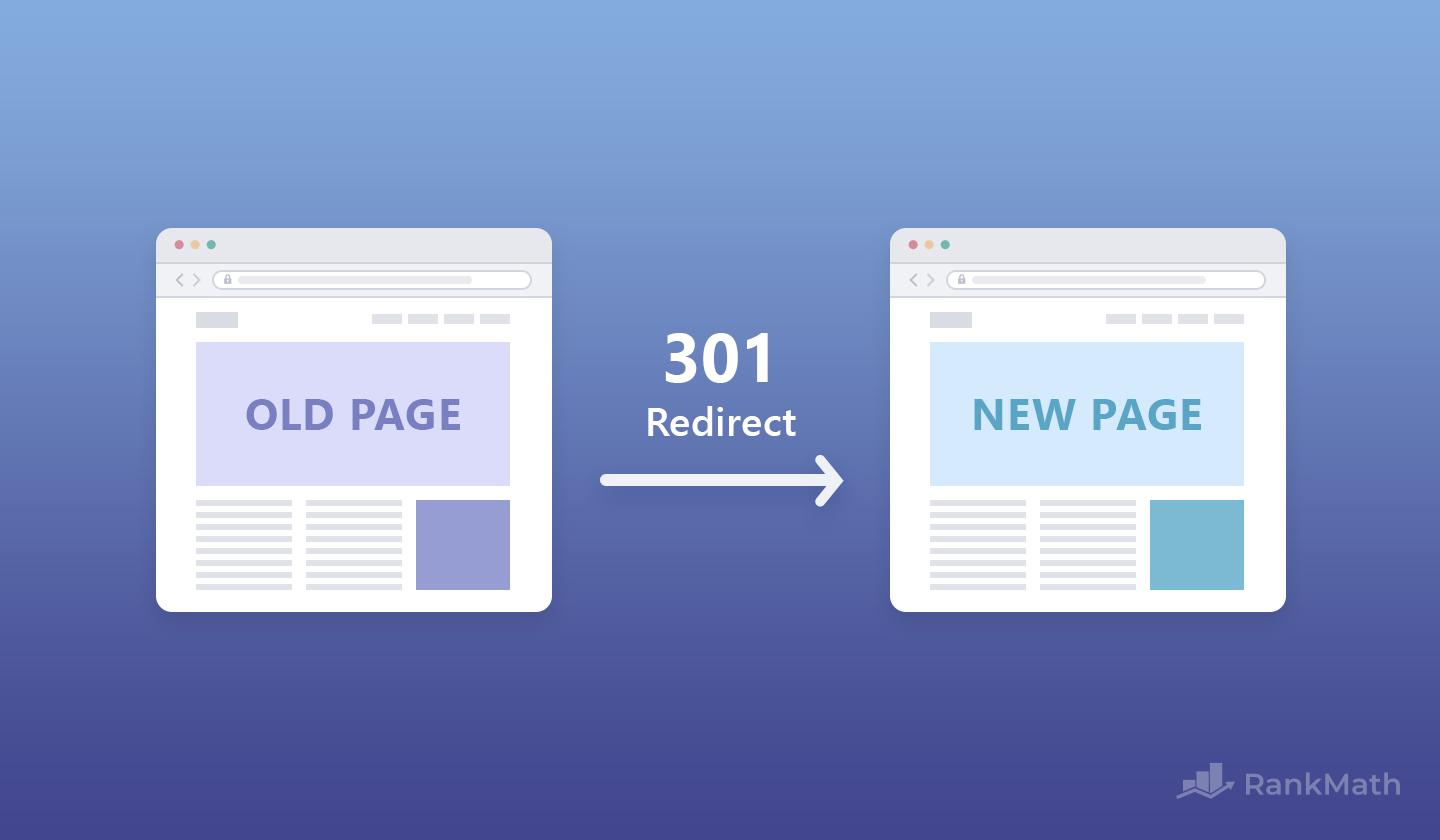 301 redirect old page to new page