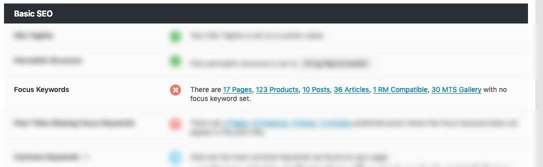 Focus Keywords In Rank Math Seo Audit