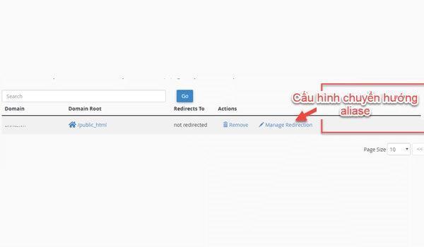Cách chỉnh sửa Aliases Domain