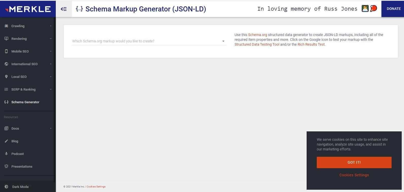 giao dien website tao schema recipe markup
