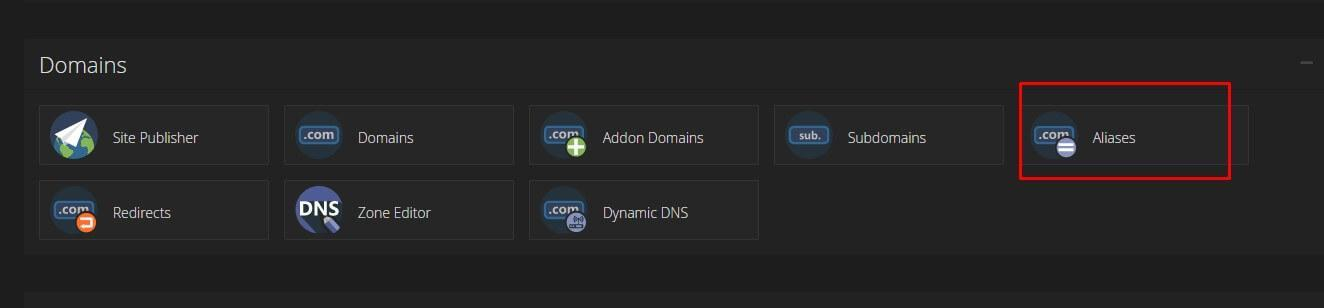 Parked Domain trong quản trị Cpanel