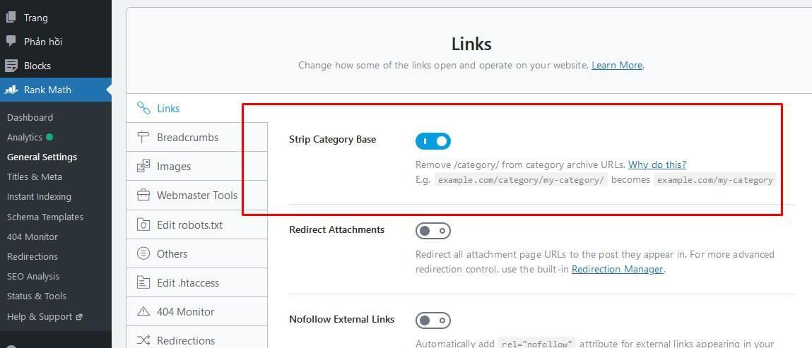 remove category url by rank math seo